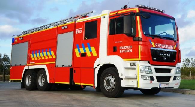 Autopompe industrielle service d'incendie Beveren
