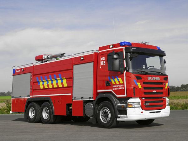 Industri 235 Le Schuimautopomp Brandweer Antwerpen Fire