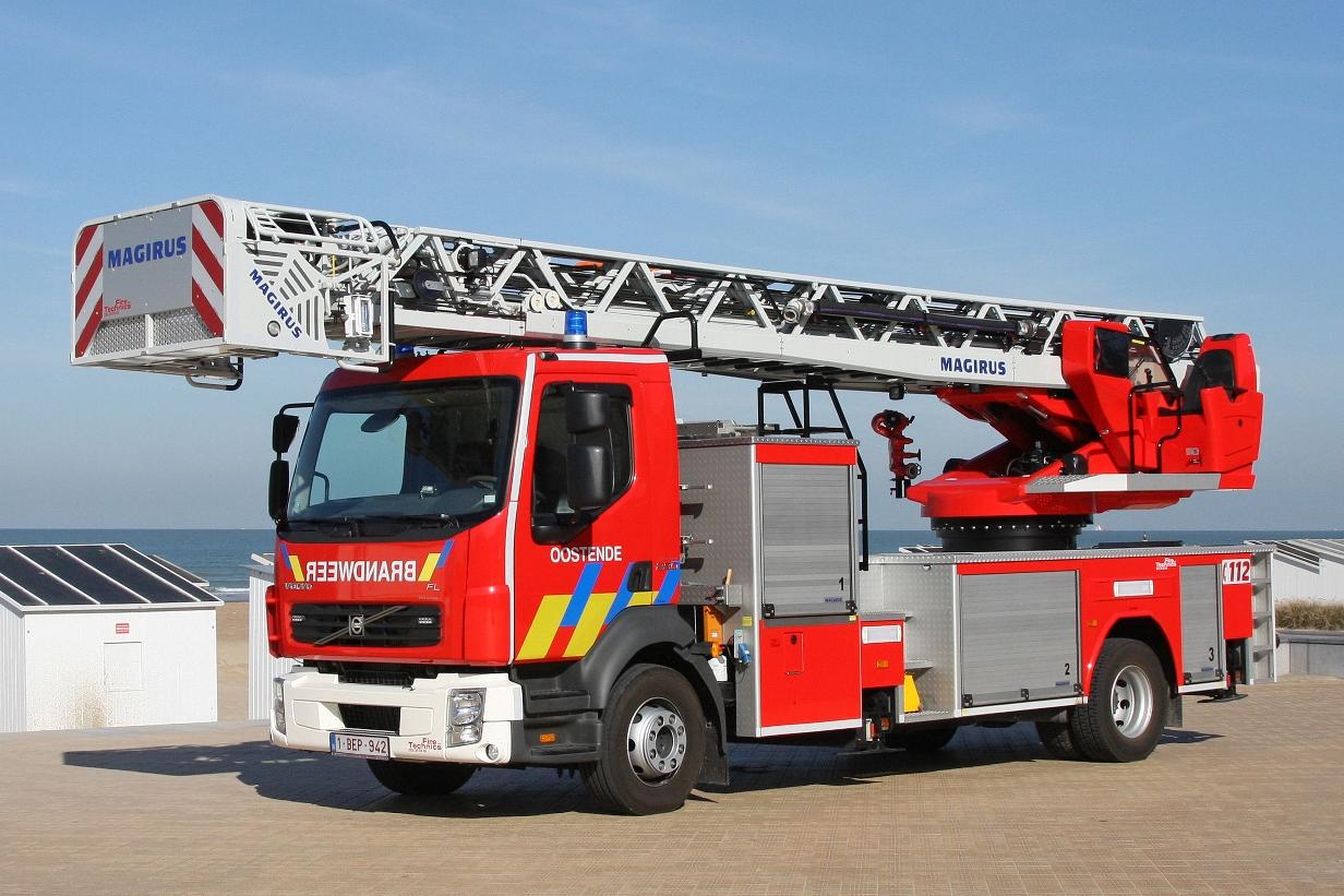 Brandweer oostende heeft als eerste brandweerkorps in de benelux een